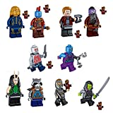 Modbrix 9 Stk. Guardians of The Galaxy Minifiguren Super Heroes Figuren