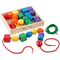 Melissa & Doug 544 Primary Lacing Beads - Educational Toy With 30 Wooden Beads and 2 Laces