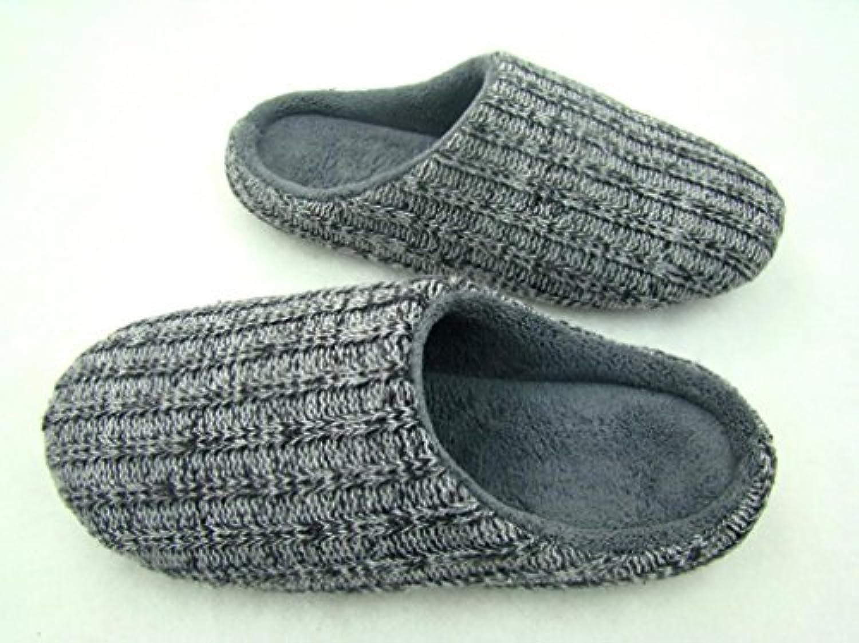 mhgao Home Interior antideslizante hombres cálido Casual zapatillas, 1, small