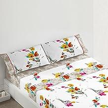 Burrito Blanco - Juego de sábanas 082 para cama 90x190/200 cm, multicolor