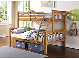 Novaro PINEWOOD Triple Bunk Bed in WHITE or PINE - Three Sleeper - Triple Sleeper (Antique Pine)