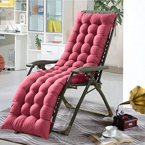 Loveinwinter cuscini lounge chair cuscino imbottito per sedia a sdraio cuscino panca per poltrona sdraio relax da casa e giardino (senza poltrona)