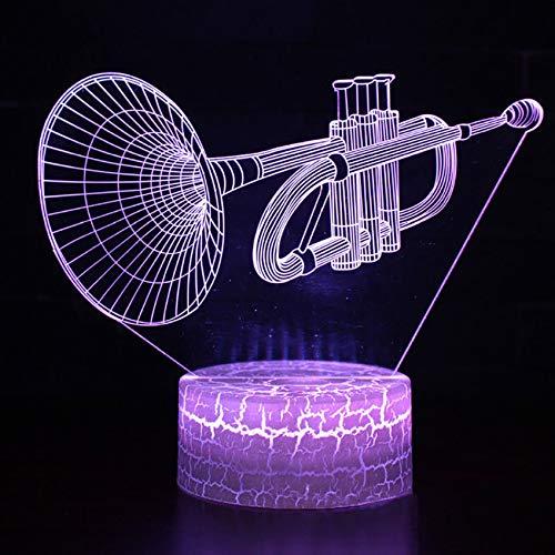 Study Decor 7 Farbwechsel Leuchte Flöte Modellierung 3D Tischlampe Led Visuelle Atmosphäre Touch Schalter Nachtlicht