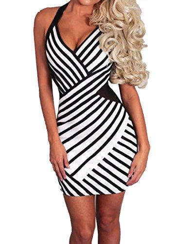 E-Girl SY22466 femme sexy robe bodycon Blanc