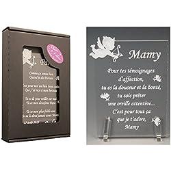 1 Poème Mamy - Ange Td (Cadeau pour la fête des Grands-mères, Noël, Baptême, Anniversaire de Mamie.)