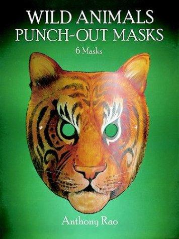 WILD ANIMALS. Punch-out masks, 6 masks