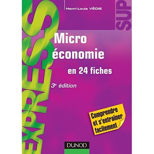 Microéconomie - 3e édition - en 24 fiches
