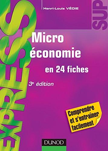 Microéconomie - 3e édition - en 24 fiches par Henri-Louis Védie
