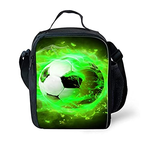 Coloranimal Thermos Lunch Bag Tote for Children 3D Football Prints Lunchboxes