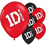 One Direction 6 PK Party Accessories Brands Balloon Latex