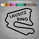 LAUSITZRING Aufkleber 12x11cm Rennstrecke Layout Formel 1 F1 Grand Prix 18 GTI in 18 Farben