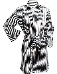 Octave Ladies Luxury Summer Sexy Satin Kimono Robe Wrap Dressing Gown eaf6c7e36