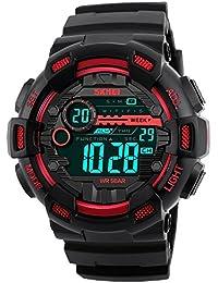 Skmei Multifunction Red Black Dial Digital Sports Watch For Men's & Boys.