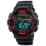 Skmei Multifunction Military Red Black Dial Digital Sports Watch for Men's & Boys