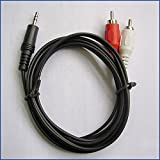 #7: Kboom Dual RC 3.5mm Jack to 2 RCA Male Stereo Audio Video AV Cable 1.5m Black
