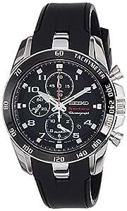 Seiko Herren-Armbanduhr XL Sportura Alarm-Chronograph Chronograph Quarz Plastik SNAE87P1