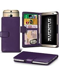 Aventus (Dark Purple) Vodafone Smart Platinum 7 Universal Case Etui Housse Wallet Spring Clamp Premium Pu Cuir Avec Caméra Slide, Titulaire De La Carte De La Fente Et Billets Pocket