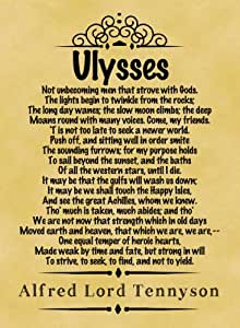 """poety of alfred lord tennyson essay The poem """"ulysses"""" by alfred lord tennyson, written in this century is representative of the characteristics of this period in history download paper grab the best paper  (""""ulysses by."""