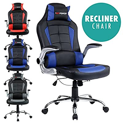 Gtforce Blaze Reclining Leather Sports Racing Office Desk Chair Gaming Computer produced by Sonic Online - quick delivery from UK.