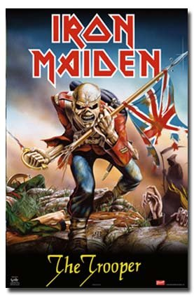 Iron Maiden The Trooper Rare Hot Neue 24 x 36 Poster