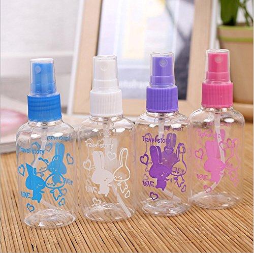 Nikgic 4 Stück Leere Kunststoff klar Schönheit Spray Flaschen Make-up Zerstäuber hydratisierende Dose 75ml mit Kaninchen (Kaninchen Make Up)