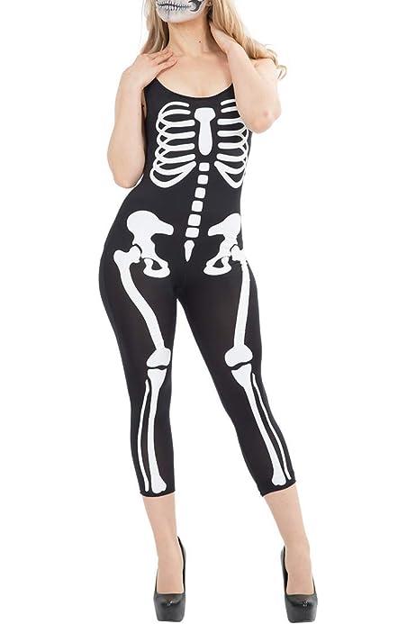 ORION COSTUMES Disfraz Mameluco Negro para Halloween con Estampado ...