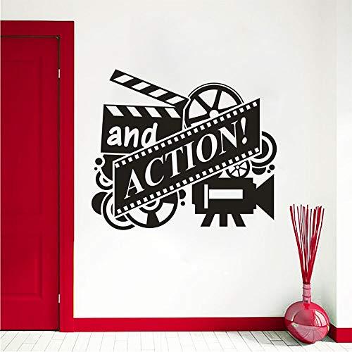 lsweia Film Action Vinyl Wandmalereien Kino Filmrolle Wandkunst Aufkleber Abnehmbare Kino Decor Film Spielen Tapete 57 * 49 cm