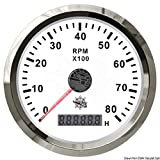 Osculati 27.327.04 - Contagiri 0-8000 RPM bianco/lucida