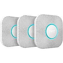 Nest Protect 2generación de Humo y Detector de monóxido de Carbono, 3Unidades, 1Pieza, Color Blanco, s3006bwde