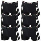 6er Pack Herren Retroshorts Boxershorts Remixx 070 schwarz dunkelblau mehrfarbig, Farbe:schwarz;Größe:2XL