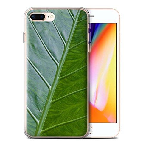 Stuff4 Gel TPU Hülle / Case für Apple iPhone 8 Plus / Wellenförmig Muster / Pflanzen/Blätter Kollektion Vene