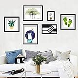 &Dekorative Wände Foto-Galerie-Rahmen-Massivholz-Galerie-Rahmen-Satz der Wand-Mode-Hauptdekoration mit verwendbarer Grafik und Familie, Satz von 6 Modischer Entwurf (Farbe : C)