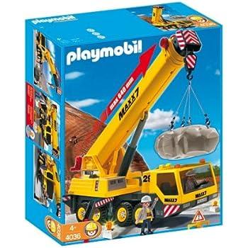 Playmobil 5253 jeu de construction cargo avec grue - Playmobil camion chantier ...