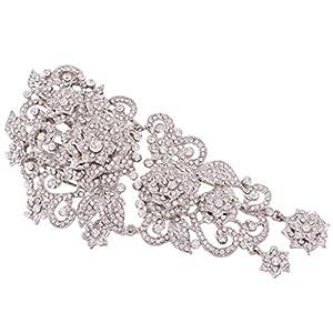 Ever Faith österreichischen Kristall Hochzeit Vintage Retro-Stil fünf Blume elegant Braut Haarkamm