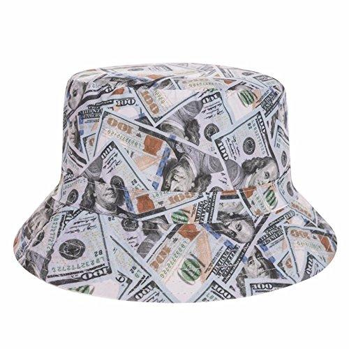 Fischerhut Bucket Hat Sonnenhut Print Money Dollars (100-dollar-hut)