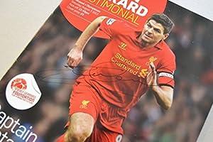 Steven Gerrard Signed Original Autograph Liverpool Tesimonial Programme + COA from Up North Memorabilia
