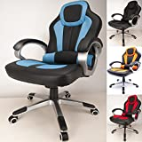 This listing is for a RayGar deluxe chair. Quality meets BIFMA 5.1 standard. Fire retardant (UK BS5852 ANTI-FIRE STANDARD). 360 degree swivel, tilt and lock mechanism, recline feature controlled by a push button, high back-rest with more comfortable ...