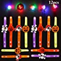 Joyibay 12 StÜcku LED Armband für Halloween Party Flash Armband Kreative Leuchten Armband