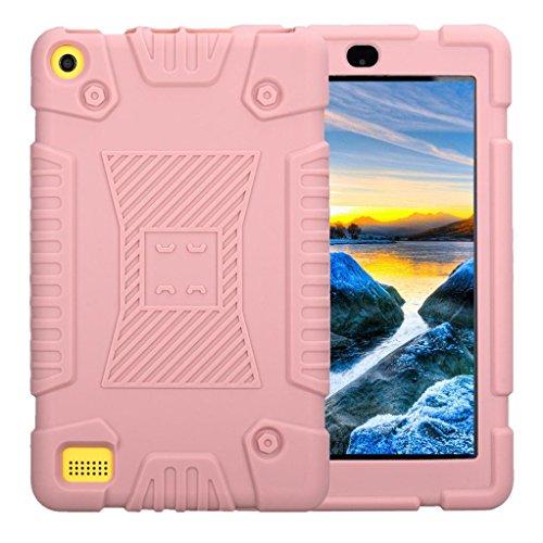 2015 Fire 7, Kindle Fall Hd (samLIKE Für Amazon Kindle Fire 7 20172016/2015 Fall stoßfest weichen Silikon robuste Abdeckung (Rosa))