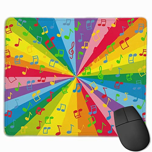 Colorful Note Non-Slip Rubber Mouse Mat Mouse Pad for Desktops, Computer, PC and Laptops 9.8 X 11.8 inch (25x30cm) -