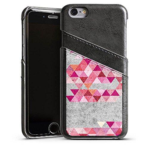 Apple iPhone 5s Housse étui coque protection Triangles Triangles Triangles Étui en cuir gris