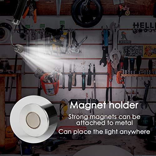 51XJLp4E87L - Mitening Grill Licht, 2 Stück Magnetische Grilllampe LED BBQ Licht Set Outdoor Lampen Grill Lichter Lampe BBQ Zubehör für Grillen im Freien, Batteriebetrieben, 360 Grad Drehwinkel (Schwarz)