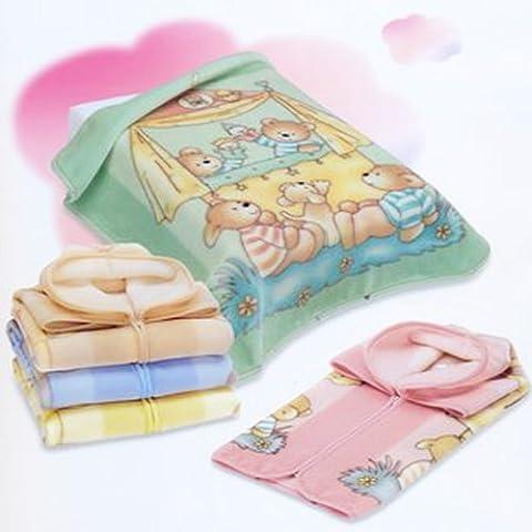 babysac Cover Bambino Ragazza 3in 1–N. 627Orso e marionette–Beige