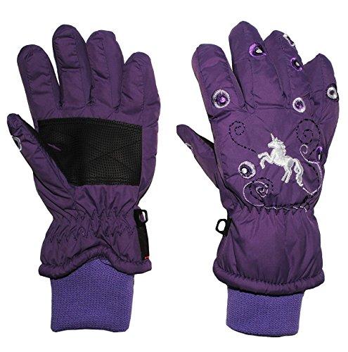 Fingerhandschuhe mit Schaft / Strick Bündchen -