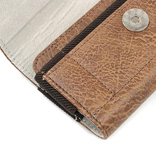 Stein Textur PU-Lederetui [Kaffee] horizontale Gürtelclip Fall mit Magnetverschluss Universal für 4,7 - 6,3 Zoll ( Color : Coffee 4.7 inch ) Coffee 4.7 inch