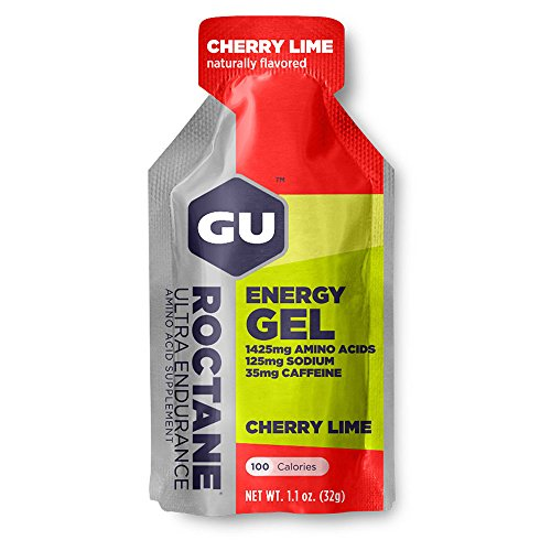 GU Roctane Ultra Endurance Energy Gel Cherry Lime – Lime – Box of 24 x 32g