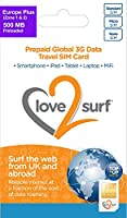 International 3G/4G Data Travel Trio SIM Card - EUROPE PLUS - (34 EU Countries + ASIA, USA, CARIBBEAN, AFRICA & MIDDLE EAST) -500MB included