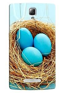 Omnam Blue Eggs Printed Back Cover Case For Lenovo K4 Note