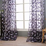 Best Leaf Curtains - Window Curtain , Ouneed 2pcs Fashion Print Leaf Review