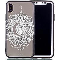 iPhone X étui de téléphone mobile / TPU protection transparente cas de téléphone de bande dessinée iPhone X couvercle transparent - porte-clés cadre (* / 67)